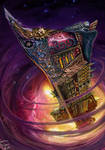 Ship In Nebula by Corbella