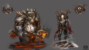 Demonic characters2 by Corbella