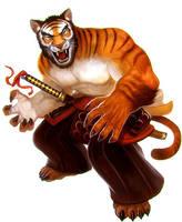 Samurai Spirit- Tiger  by Corbella