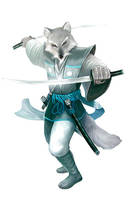 White Fox - Kyuzo by Corbella
