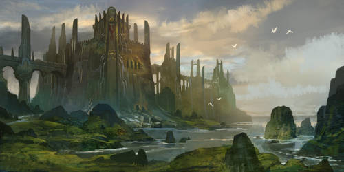 Castle Caladan by AndrewRyanArt