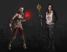 Dragon Effect Miranda and Jack by AndrewRyanArt