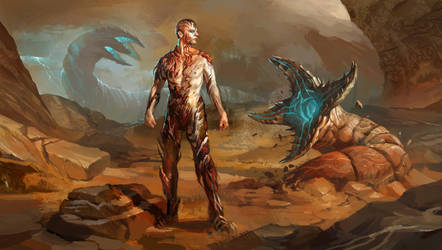 Dune - Leto II, transformation by AndrewRyanArt