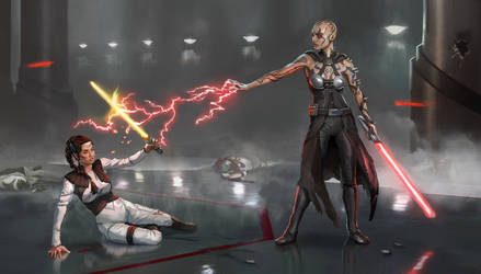 Jack vs. Miranda by AndrewRyanArt