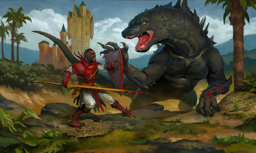 Sir Christopher and the Dragon by AndrewRyanArt