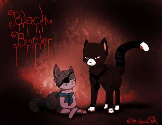 :Black Butler: Ciel and Sebastian by JazuNeon