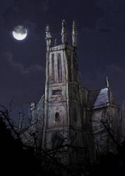 Nightime Church tomfoolery... by poopgannet