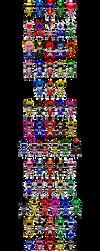 Warera, SUPER SENTAI!! by robinosuke