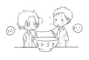 KHR- Eating ramen by minghii