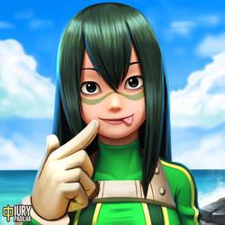 Boku no Hero: Tsuyu Asui by iurypadilha
