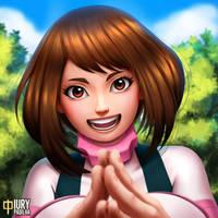 Boku no Hero: Ochako Uraraka by iurypadilha