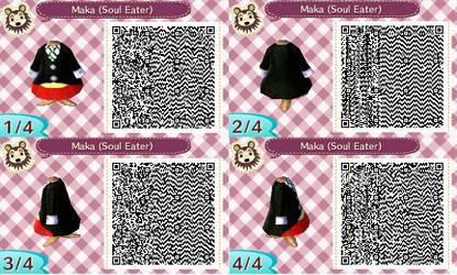 QR Code Animal Crossing- Maka (Soul Eater) by Lorenius11