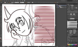 Basic Lineart Brush Set Adobe Illustrator ~ 50pts by cloudyrei
