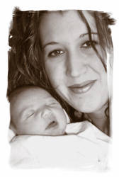 Wife and the new baby by alsjka