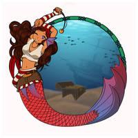 Pirate Mermaid by Kitsune64