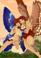 Eros and Anteros by Kitsune64