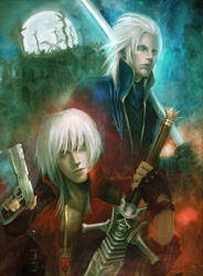 DCM-3 Dante and Vergil by LorennTyr