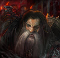 Dwarf portrait by LorennTyr
