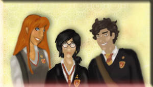 The Golden Trio by Gothicthundra