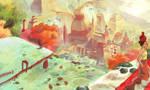 Drunken city of Atlantis by sarriathmoonghost