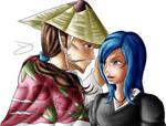 Ponit Comm Shunsui Kyoraku and Shuriken Natazaki by TheBlastvampire
