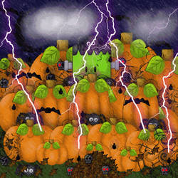 Haunted Pumpkin Patch by wickedpoison