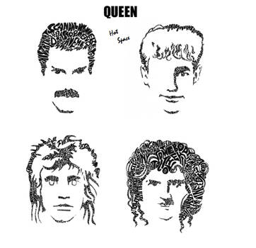 Hot Space Queen Drawn Out Of Their Songs Lyrics By Dragonhardt On