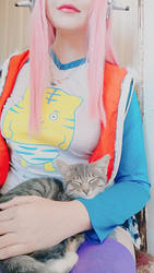 Sonico and kitty by YukoUzumaki