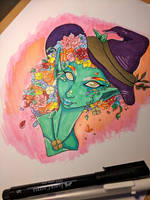 Witchtober Day 2 - Flower Witch by UrchinSpells