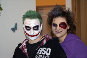 Joker and Zombie makeup by AloneInUniverseArt