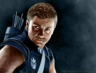 Hawkeye Colored by AloneInUniverseArt