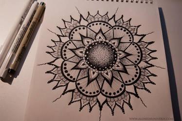 Mandala by AloneInUniverseArt