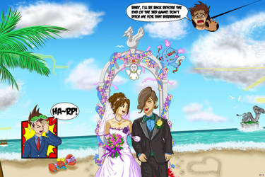 It's Still a Nice Day For a White Wedding by RockMiyabi