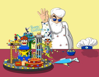 MM30th Anniversary: Light Powerup Sprinkle CakeBae by RockMiyabi