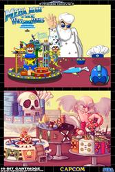 Megaman 30th Collab - The Wily Cake Wars by RockMiyabi