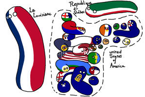 Polandball Map of the Empire of Liberty by aftertheotheruse