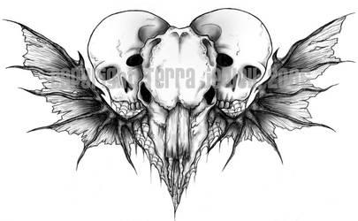 Skull Heart Tattoo by astasia