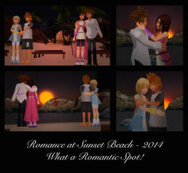 KH Pairings - Romance at Sunset Beach by rev-rizeup