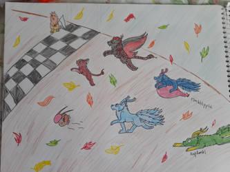 Leaf Race by VulcanTheWulf