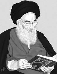 Ayatullah Sayed Ali Asistani by Al-Muhajir