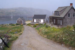 Up hill from Monhegan Bay by mirengraphics