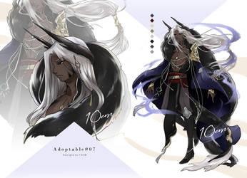 Auction : Adoptable #07 Black dragon [CLOSE] by Popza10CM