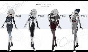 Auction : OUTFIT #331-334 [CLOSE] by Popza10CM