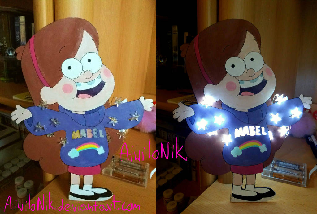 Gravity Falls - Mabel lamp! by AiwiloNik