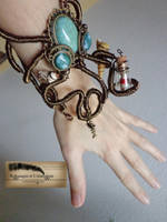 Steampunk octopus bracelet by Rouages-et-Creations