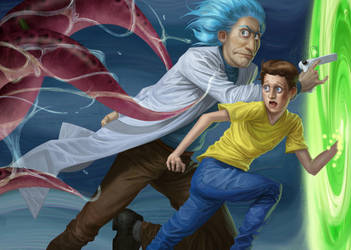 Rick and Morty by JulianDeLio