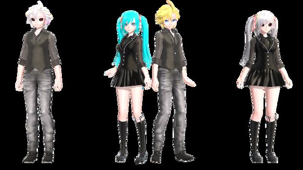 [MMD+DL] Ghoul Miku and Len by 01mikuxlen02