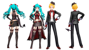 [MMD+Download] SNOBBISM models  (hint update) by 01mikuxlen02