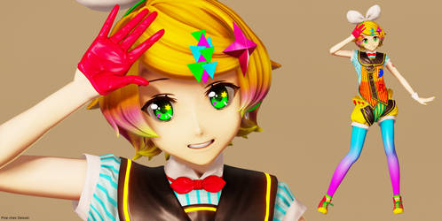 [MMD] Poppin Delight Rin by 01mikuxlen02