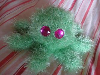green crochet squid by PinkuArt